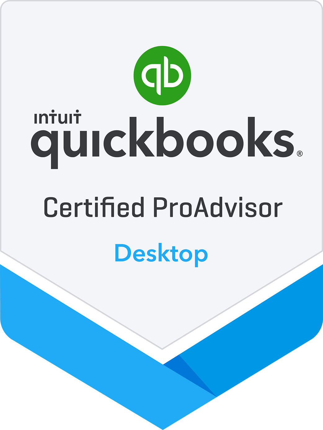 Certified QuickBooks Proadvisor Desktop Badge
